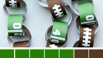 Free Printable Game Day Paper Chain