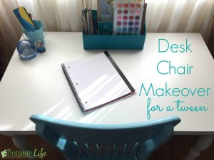 Desk Chair Makeover for a tween