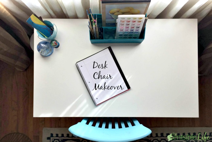 Desk Chair Makeover from top
