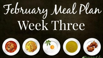 February Week Three Meal Plan