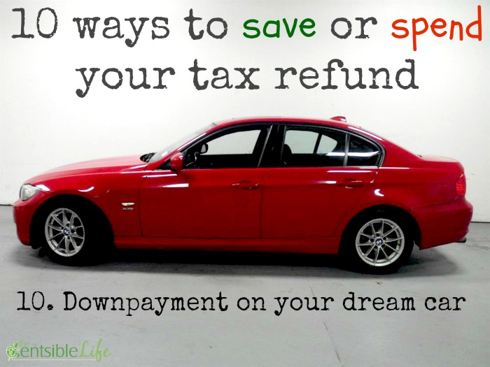 save or spend tax refund