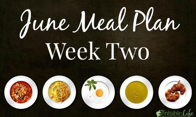 June Meal Plan week two