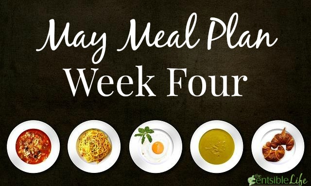 May Meal Plan week four