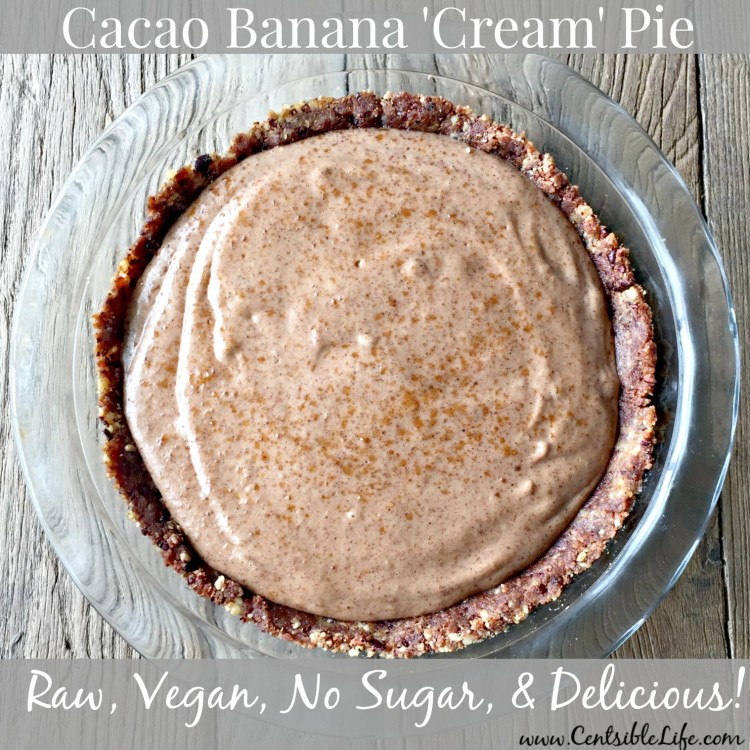 Cacao Banana Raw Vegan Pie