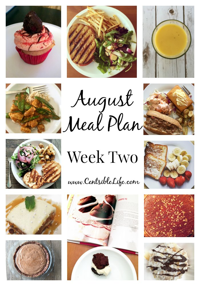 August Meal Plan Week Two