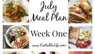 July Meal Plan: Week One