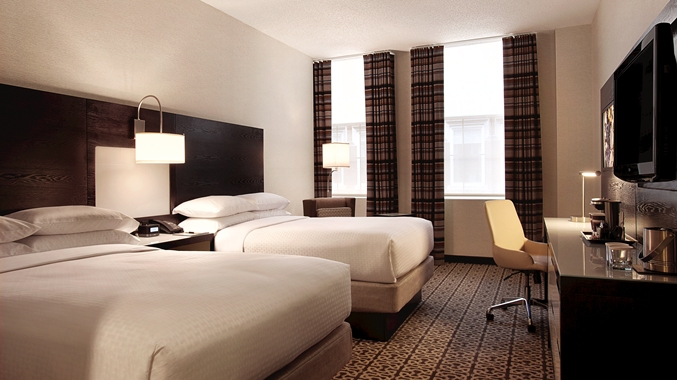 double room DoubleTree Washington St. Boston