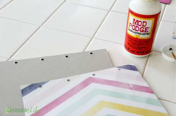 How to make a DIY chipboard iPad cover and stand