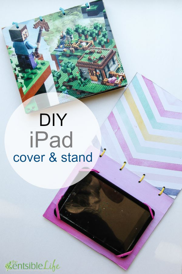 Kids craft: DIY iPad cover and stand.
