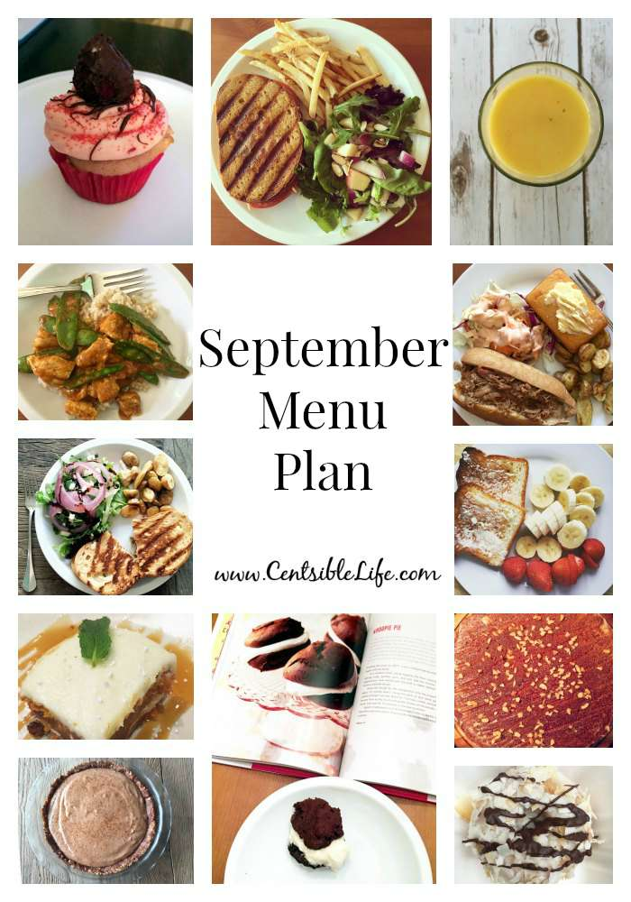September Menu Plan