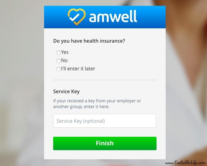 Amwell signup #2