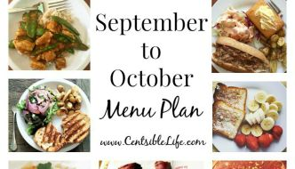September to October Menu Plan