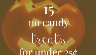 15 No Candy Halloween Treats For Under 25¢ each!