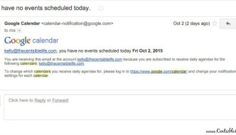 Quick Google Calendar Agenda Tip