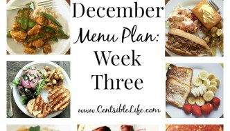 December Menu Plan: Week Three