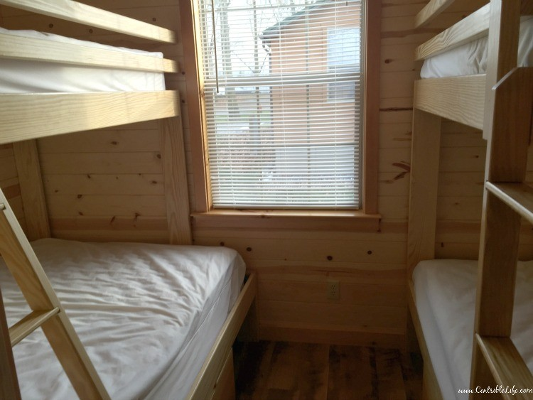 Bunk bed bedroom cabin Hershey campground