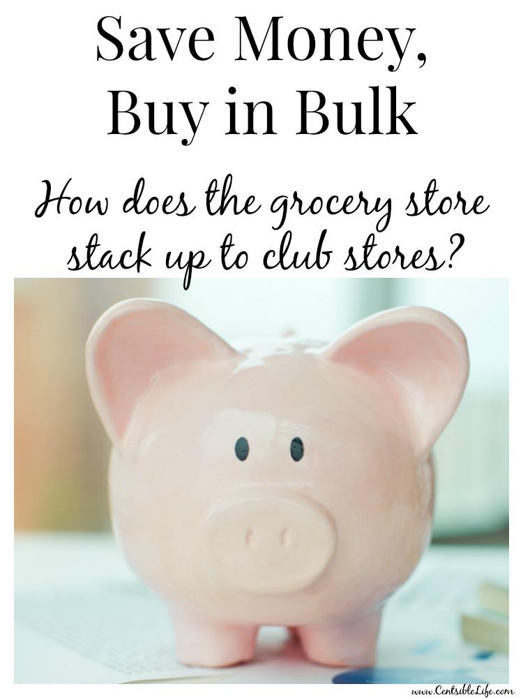 Save Money, Buy in Bulk