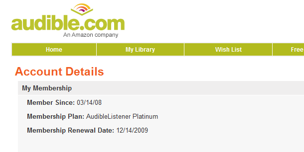 Audible free book offer