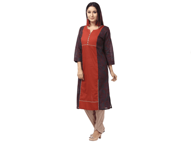 Kurti And Cigarette Pants to Nail Your Office Look