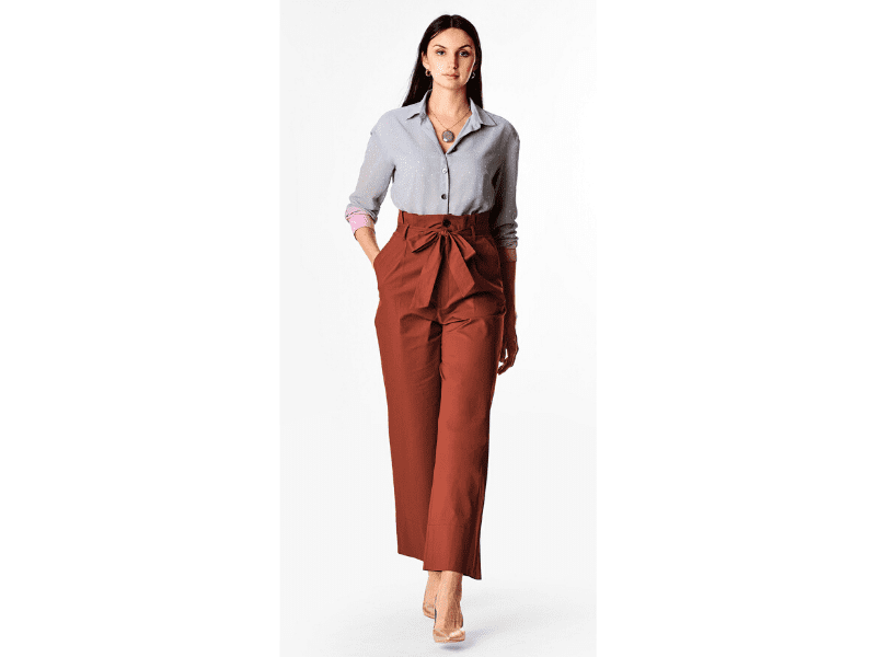 Palazzo Pant And Formal Shirt For Office Wear