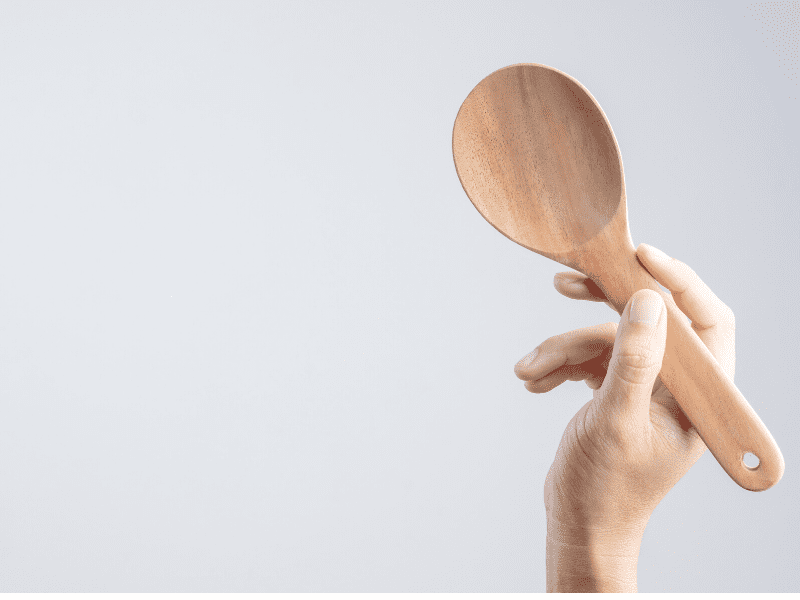 Use Serving Spoons To Serve