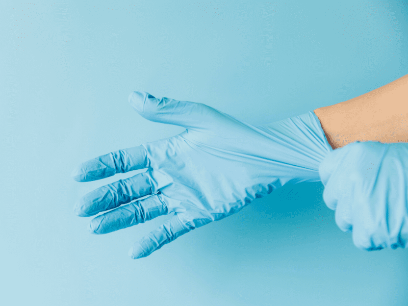 Wearing Gloves To Prevent Dry Skin