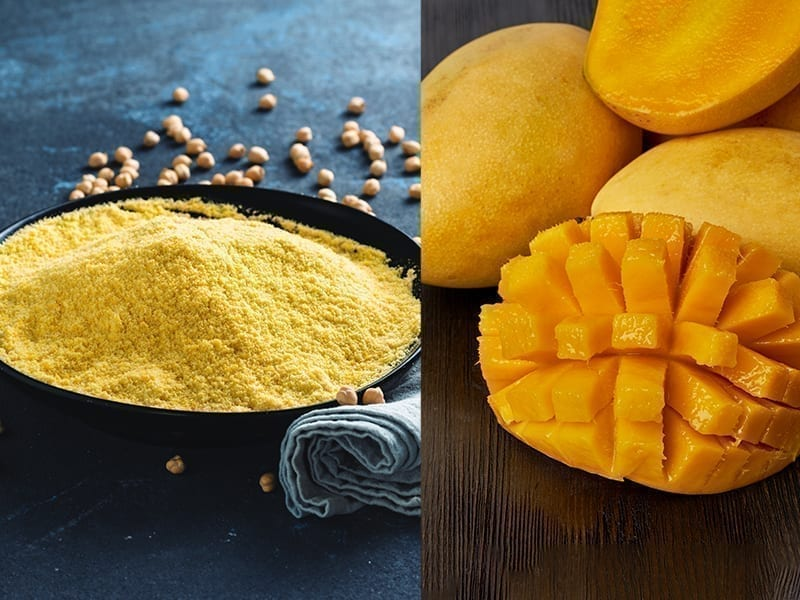 Besan And Mango Face Pack