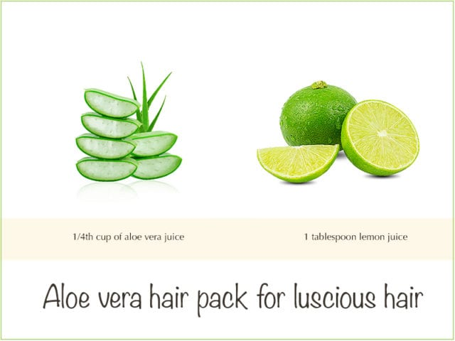 Lemon Juice And Aloe Vera Hair Pack