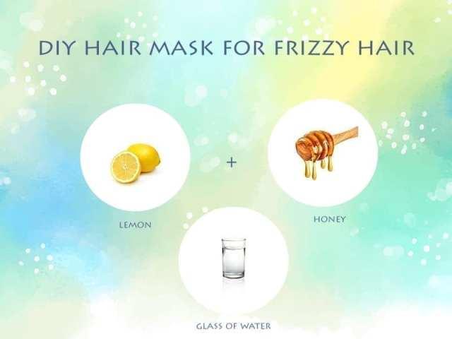 Lemon And Honey Hair Mask For Frizzy Hair