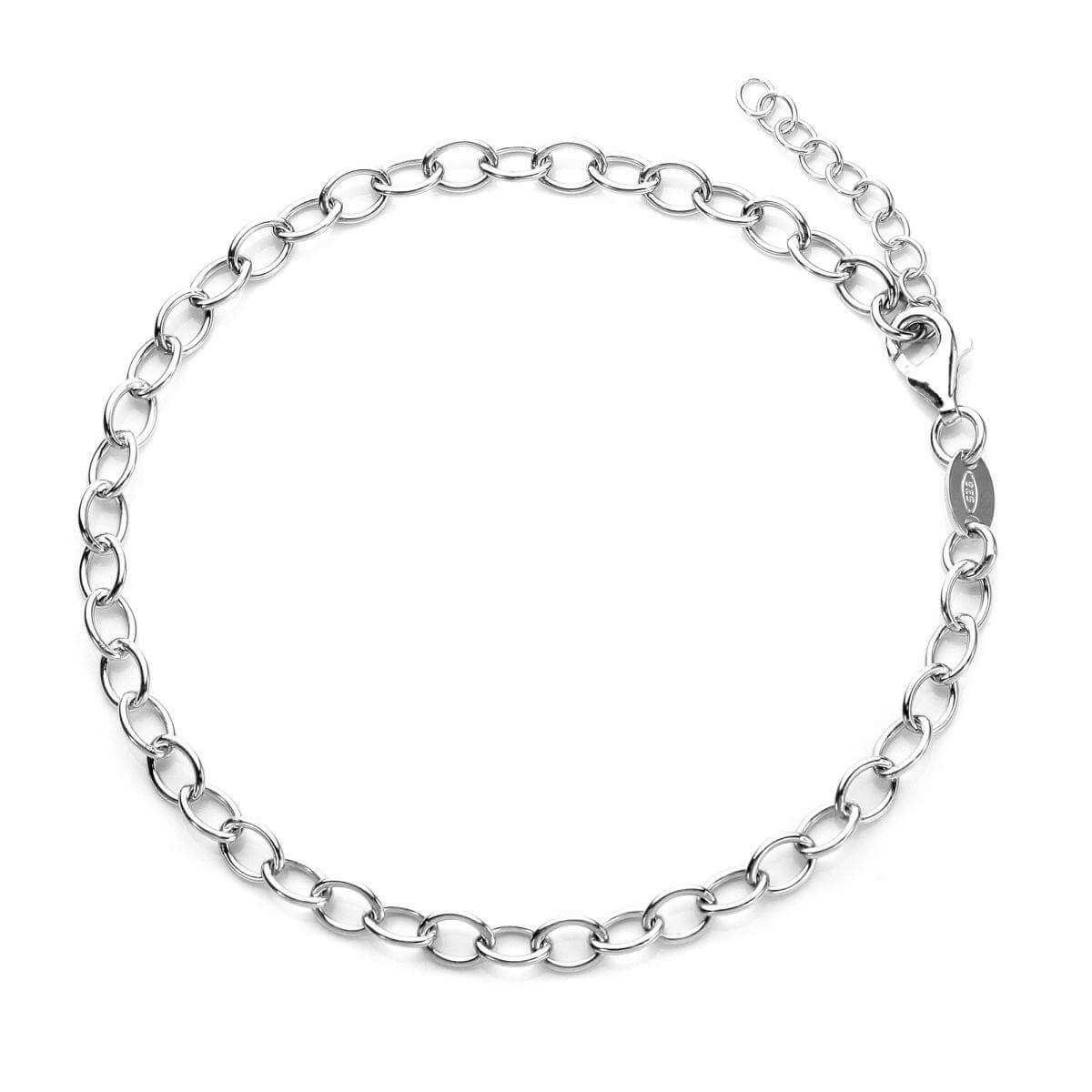 Sterling Silver Rolo Light Charm Bracelet