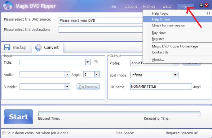magic dvd ripper-help