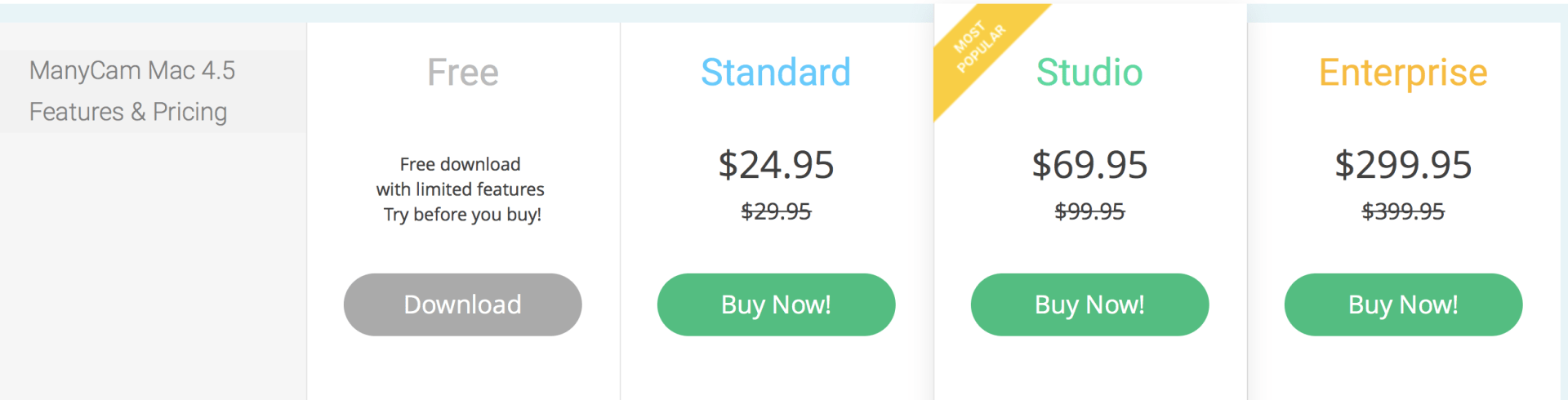 manycam price
