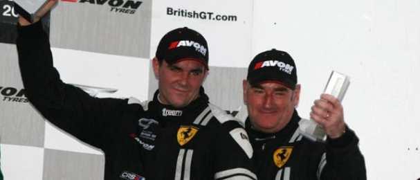 Glynn Geddie (l) and Jim Geddie on the Silverstone podium (Photo Credit: Jakob Ebrey)
