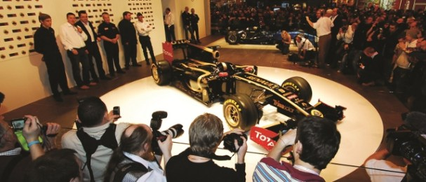 In 2011 Autosport International saw Renault launch their new F1 livery