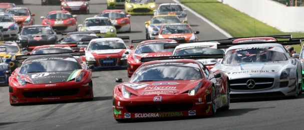 The Avon Tyres British GT Championship field in 2011 (Photo Credit: Jakob Ebrey)