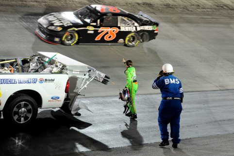 Danica points the finger of blame (Photo Credit: John Harrelson/Getty Images for NASCAR)