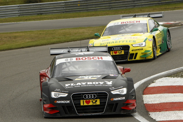 Mortara and Mike Rockenfeller maintained Audi's dominance after qualifying (Photo Credit: DTM Media)
