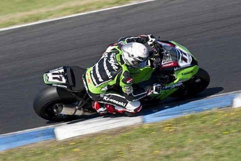 Lascorz in action before his career was cruelly curtailed (Photo Credit: Kawasaki)