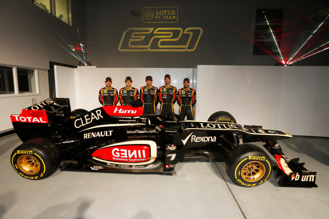 Lotus launched the E21 at their Enstone HQ (Photo Credit: Lotus F1 Team)