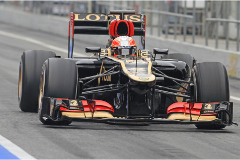 Romain Grosjean completed more laps than anybody else in Barcelona today - Photo Credit: Octane Photographic