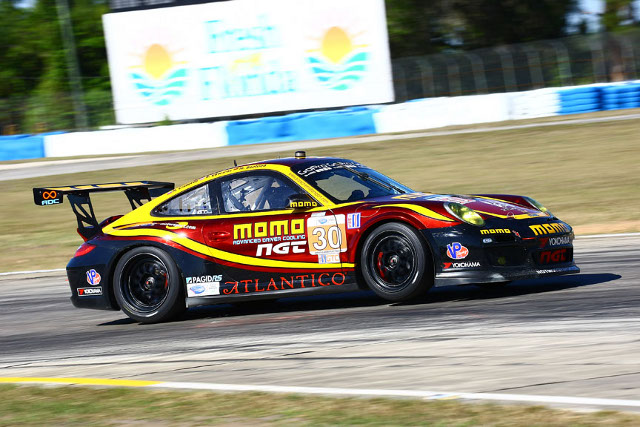 Edwards matched the second placed time, but will start third for the 12 Hours (Photo Credit: MOMO/NGT Motorsport)