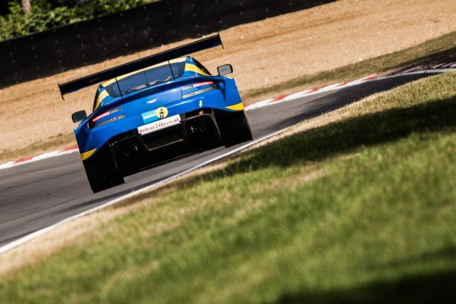 Paul Whites newly acquired Aston set the pace on its Britcar debut (Credit: Tom Loomes)