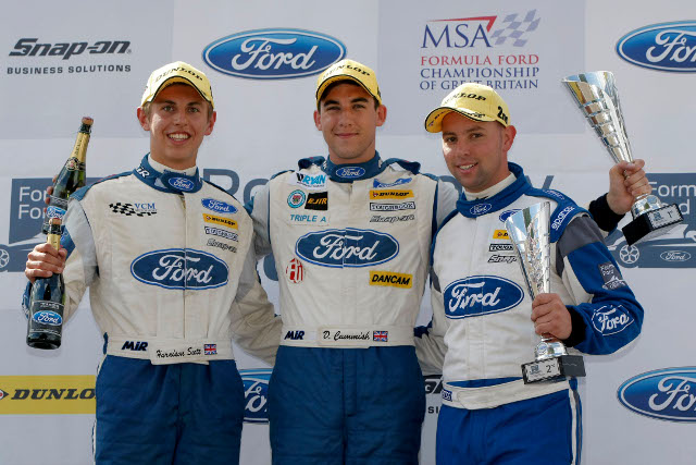 Cammish headed Kruger and Scott to the podium (Credit: Formula Ford)