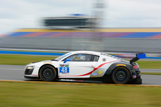 Paul Miller Racing has one of the five R8 LMS entered for the Rolex 24 (Credit: Paul Miller Racing)
