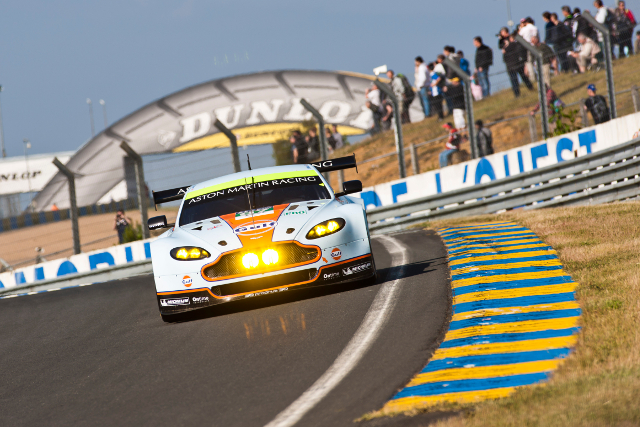 Four Vantage GTE chase class honours at Le Mans this year (Credit: Aston Martin Racing)