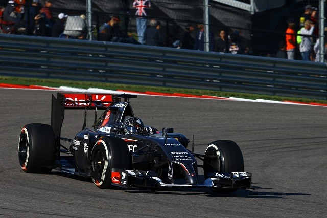 Adrian Sutil qualified inside the top ten for the only time in 2014 at Austin (Credit: Sauber Motorsport AG)
