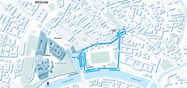 The track layout for the Moscow ePrix. Credit: FIA Formula E