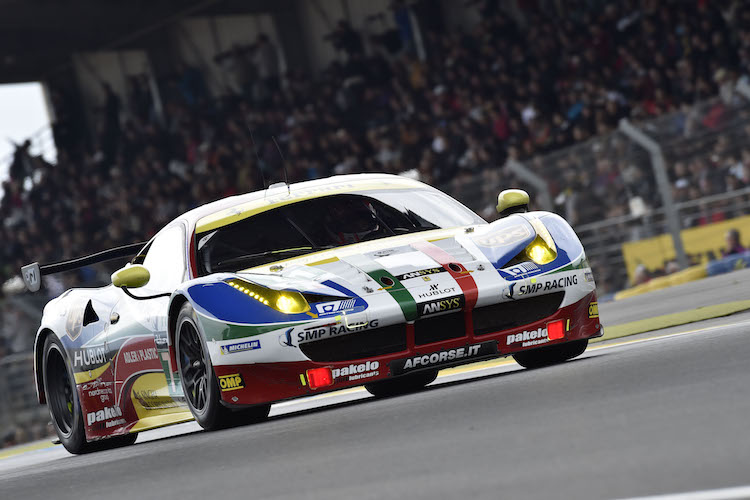 AF Corse finished a strong 2nd and 3rd (Credit: Ferrari)