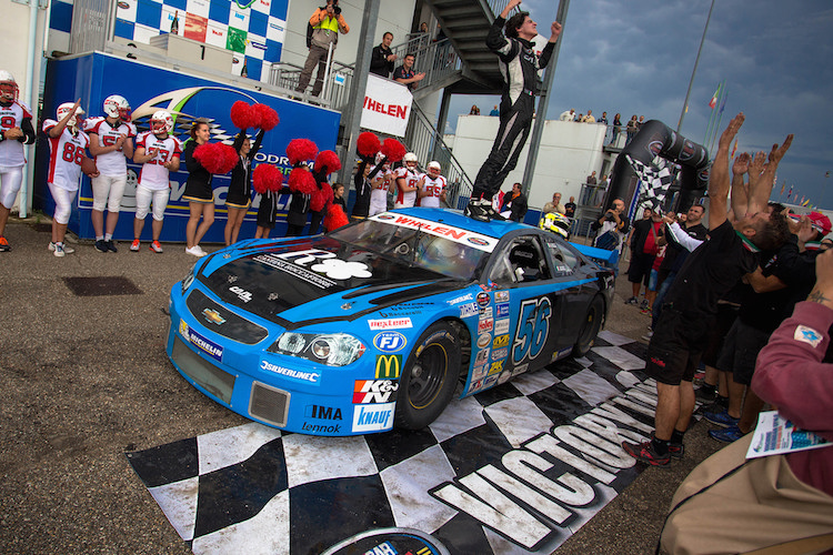 Nicolò Rocca won last time out at Maggione race 2 (Credit: NASCAR Whelen Euro Series)