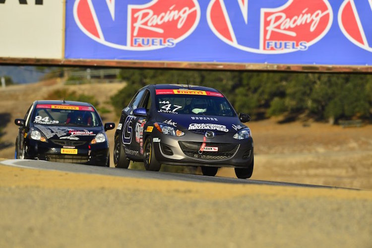 Joey Jordan won all three races at Laguna Seca, and the final four rounds of the season in TCB